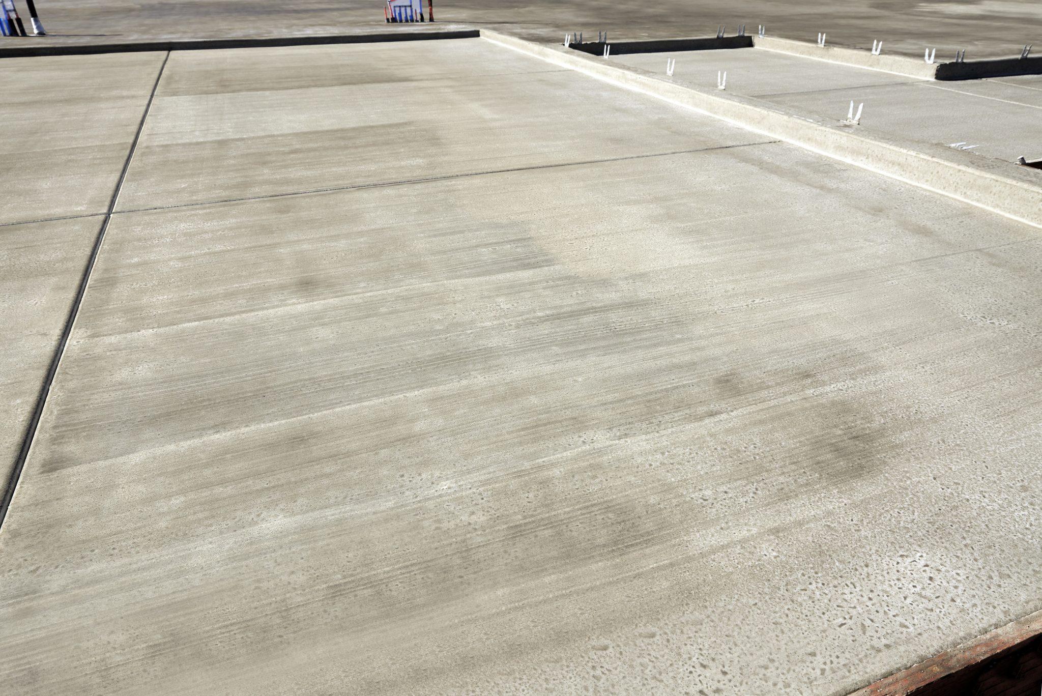 New home building construction concrete slab in Lincoln NE